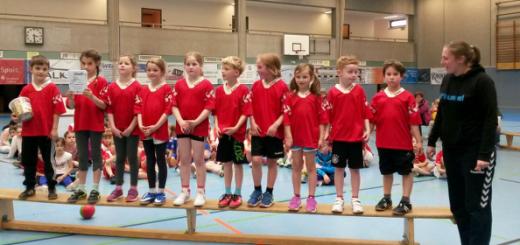 Für den TuS spielten Lorenz, Lara, Hannah, Justus, Lena, Philippa, Mayla, Lasse, Linus und Felix.